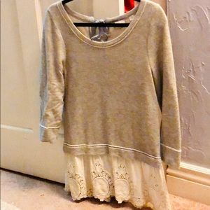 Women's small Anthropologie lace sweater